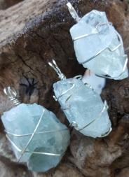 aquamarine ss wire wrap